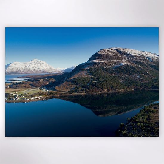 Picture of Snow on Ben Shieldaig Christmas cards