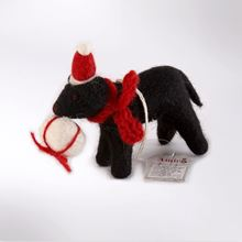 Picture of Black labrador with gift