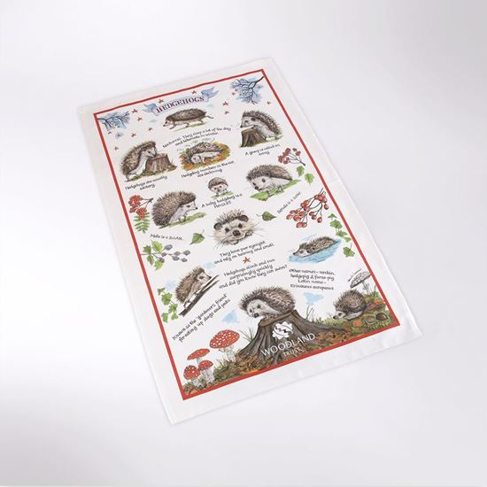 Picture of Woodland Trust tea towel - hedgehog