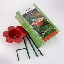 Picture of Red petal bird feeder