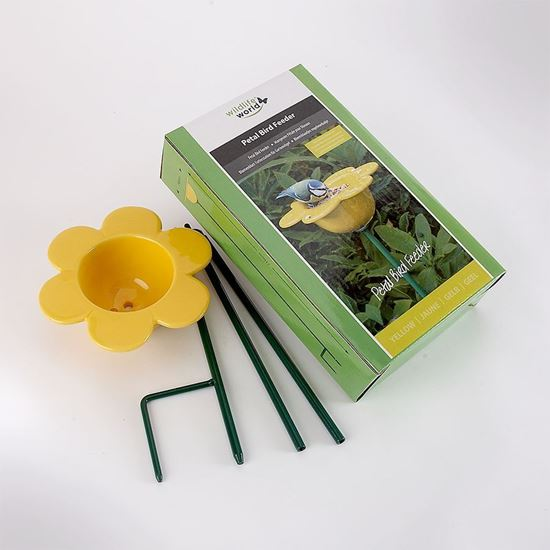 Picture of Yellow petal bird feeder