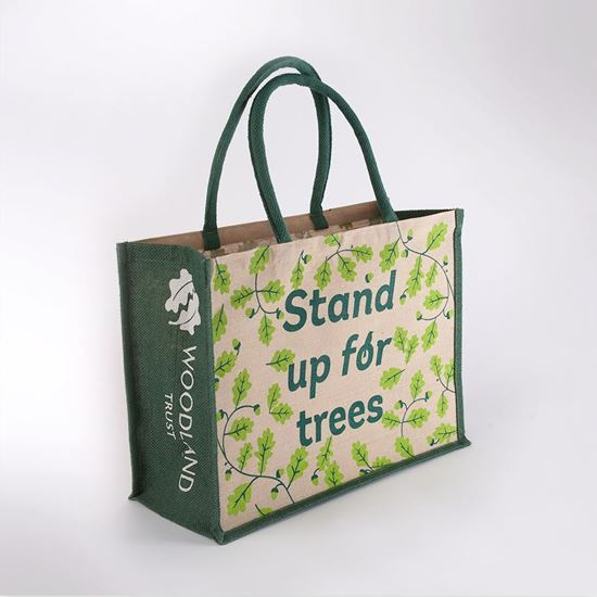 Picture of Woodland Trust juco shopping bag - trees