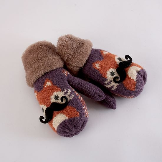 Picture of Children's fox mittens