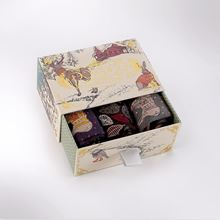 Picture of Cosy forest friends sock box