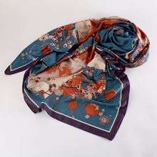 Picture of Watercolour fox satin scarf