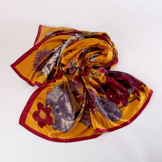 Picture of Forest friends satin scarf
