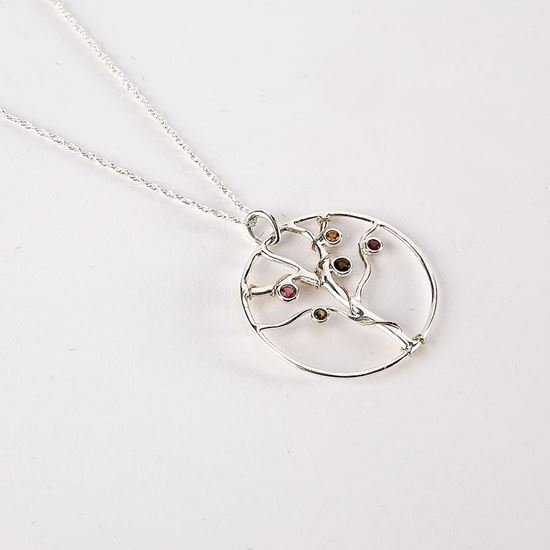 Jewelled tree of life necklace