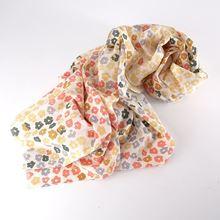 Cotton floral scarf