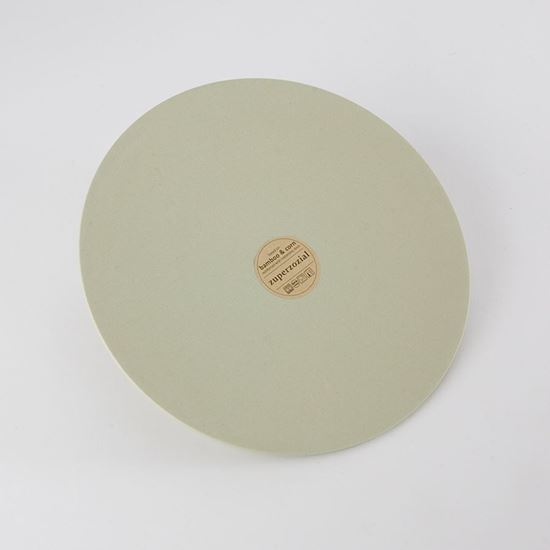 Bamboo willow green plate made from bamboo, corn and reinforced with melamine resin.