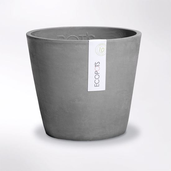 Large Amsterdam Ecopot made from recycled plastic and crushed stone
