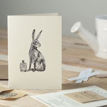 Hare & Twine card with bee-friendly seeds attached