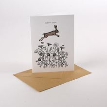 Hoppy days card with bee-friendly seeds attached