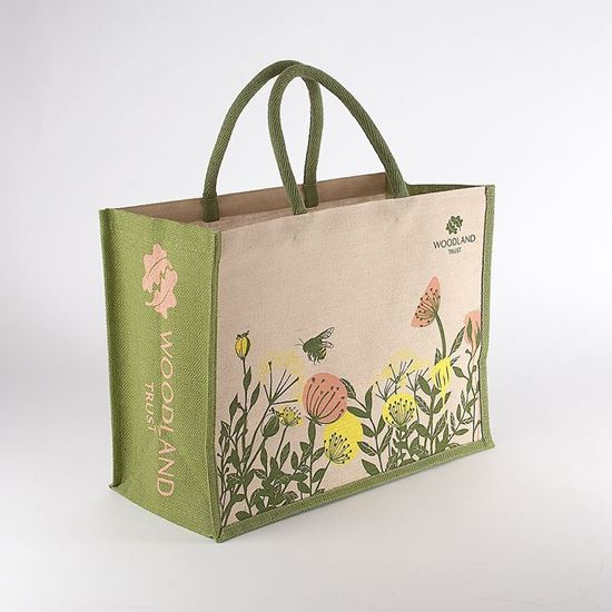 Woodland Trust shopping bag - bees in flowers