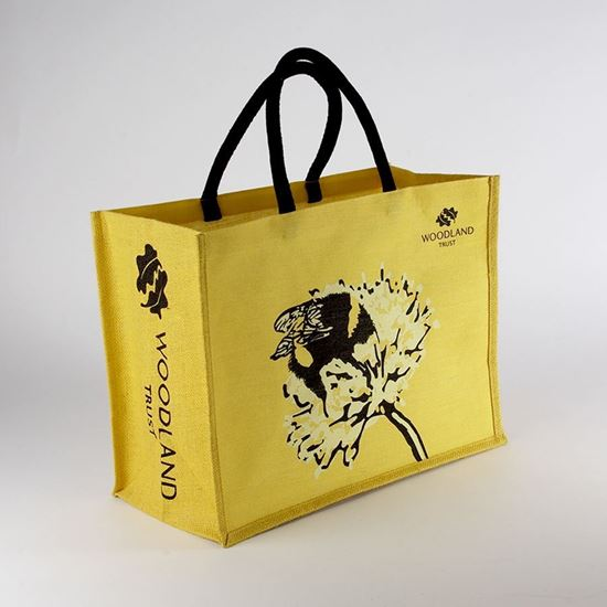 Woodland Trust shopper bag -  yellow bee