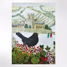 Festive blackbird Christmas cards