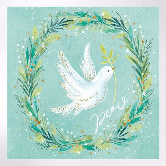 Dove in a wreath Christmas cards
