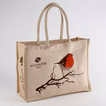 Woodland Trust shopper bag - Christmas robin