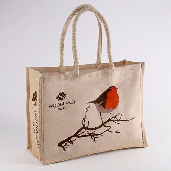 Woodland Trust shopper bag - Christmas robin
