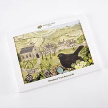 Woodland Trust pack of eight large notecards with countryside scenes illustrations