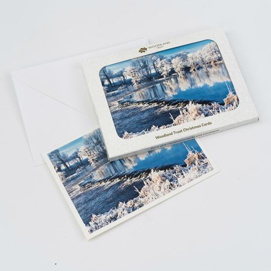 River Shannon in winter design pack of eight Christmas cards