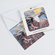 Blackbird and song thrush pack of eight Christmas cards