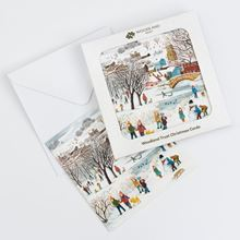 Pack of eight Winter time in the village design Christmas cards