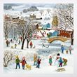 Winter  time in the village Christmas cards