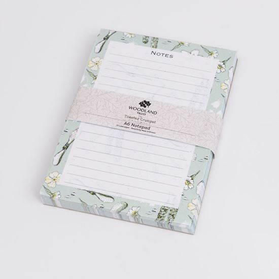 Woodland Trust catkins design A6 lined jotter pad