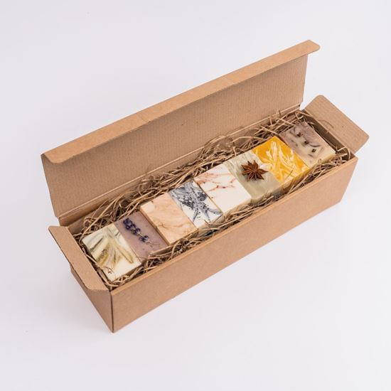Woodland Trust set of 8 soaps gift set in a kraft gift box
