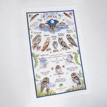 Woodland Trust Owls organic cotton owls tea towel