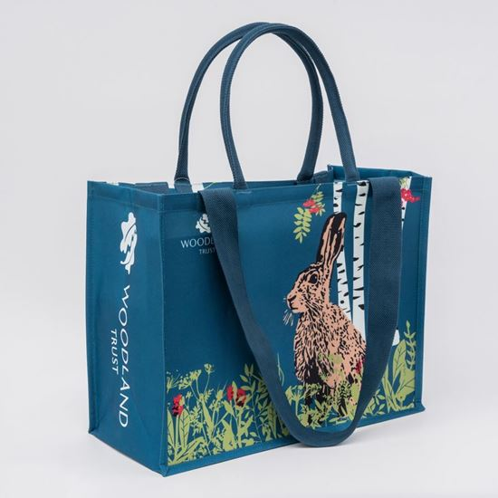 Woodland Trust hare shopper bag with dual handles